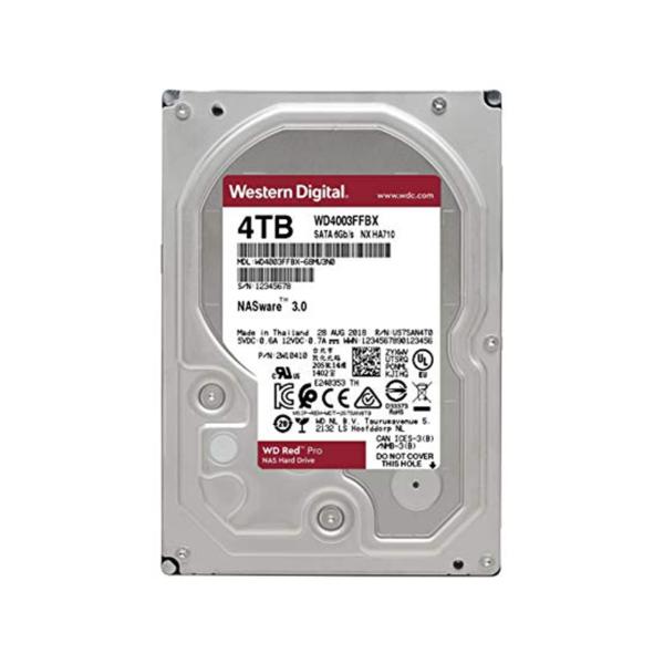 هارد دیسک اینترنال 4 ترابایت قرمز (گارانتی اصلی) Western Digital RED